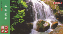 China - Guaxi Waterfall at Guaxi Alsophila Nature Reserve, Fu'an City of Fujian Province, Prepaid Card