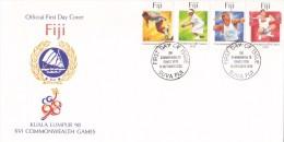 Fiji 1998 Kuala Lumpur Commonwealth Games FDC - Fiji (1970-...)