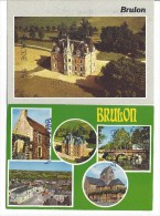 2 CPM - BRULON (72) Château Vert - Multivues - Brulon