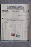 Facture Invoice Maquestiaux Lembecq - Hal Halle  Peintures - Marbrix 1938 - Belgique