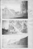 Champagne Reims La Cathédrale Vues De La Place Et De L´entrée 3 Photos 1914-1918 14-18 Ww1 Wk1 - War, Military