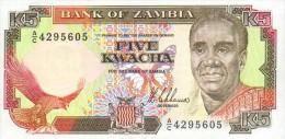 Zambia 5  Kwacha (1989) Pick 30a UNC - Zambia