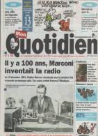 MON QUOTIDIEN 13 12 2001 - CENTENAIRE RADIO MARCONI - CONSOLES ET JEUX VIDEO NOËL - BORDEAUX ENFANT LARBI - THAÏLANDE - Desde 1950