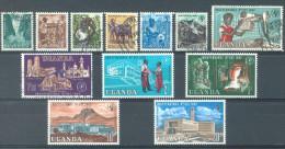 UGANDA - 1962 - USED/OBLIT. MVLH/*  - Yv 50-61 Mi 73-84 - Lot 11804 - Ouganda (1962-...)