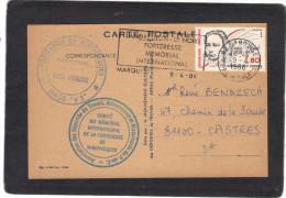 Carte Déportés Du Travail Arras Pas De Calais S T O Cachet Mimoyecques Et Landrethun Forteresse Mémorial Marquise - 1939-45