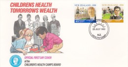 New Zealand 1990 Children Health FDC - FDC