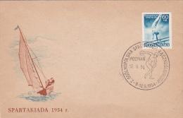 Poland 1954 Spartakiada Gymnastic Souvenir Cover - 1944-.... Republic