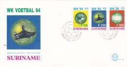 Suriname 1994 Soccer World Cup FDC - 1994 – États-Unis