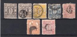 JAPON : 7 EX . * Et OBL . 1873/75 . AB . - Japan