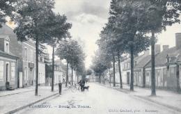 Ecommoy (Sarthe) - Route De Tours - Homme à Vélo Et Son Chien - Cliché Crochard - Ecommoy