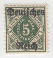 MiNr.52 Xx  Deutschland Deutsches Reich, Dienstmarken - Oficial