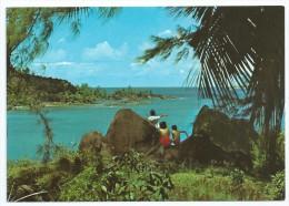 Cpm-cpsm Bon Etat  10.5x15cm   Seychelles , Mahé , Port Launey , Carte Rare , Courrier Au Verso - Postcards