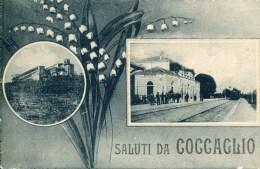 PEU COMMUNE A VOIR ! COCCAGLIO LA GARE SALUTI THEMES GARES TRAINS TRANSPORTS - Italia