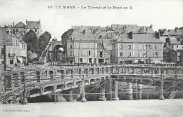 Le Mans (Sarthe) - Le Tunnel Et Le Pont En X - Librairie Leflaouter - Carte Non Circulée - Le Mans