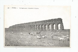 Cp , ITALIE , ROMA , Via Appia Nuova , Acquedotti Di Claudio , Dos Simple , Vierge - Roma
