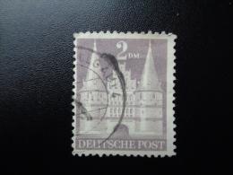Allemagne 1948 N°66 Oblitéré La Holstentor Lübeck - Bizone
