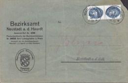 Germany Deutsches Reich Dienstpost BEZIRKAMT NEUSTEDT A. D. HAARDT 1934 Brief 2x Mi. 130 Cote 70 € !! - Officials