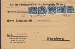 Germany Deutsches Reich Dienstpost LANDGERICHT NÜRNBERG 1920 Brief 5-Streife !! - Officials