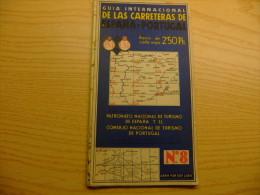 ANTIGUO MAPA DE CARRETERAS Nº 8 DE ESPAÑA Y PORTUGAL - Mapas Geográficas