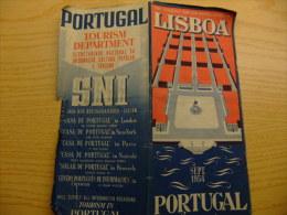 ANTIGUO MAPA DE LISBOA Año 1954 -THE TOURIST AND SHOPPING GUIDE OF LISBOA - VER FOTOS - Folletos Turísticos