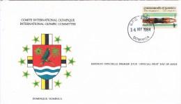 12671. Carta ROSEAU (Dominica) 1984. Comite Olympic Games - Dominica (1978-...)