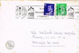 12684. Carta SABADELL (Barcelona) 1983. Excursionisme Sabadell. Viñeta Dorso - 1931-Hoy: 2ª República - ... Juan Carlos I