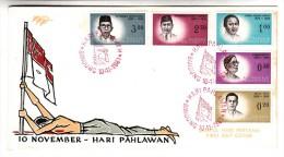 FDC Indonésie - Hari Pahlawan - 1961 (drapeau) - Indonesia
