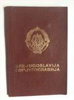 PASSEPORT  PASSPORT REISEPASS  YUGOSLAVIA  1972. VISA TO:  LEBANON  LIBANON  ,  CEYLON   ,  AUSTRALIA ,  INDIA , RUSSIA - Historical Documents