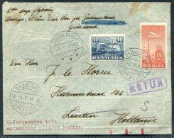 1949 Greenland Denmark Copenhagen Gronlands Styrelse Julianehaab Blue West One First Flight Cover - Briefe U. Dokumente