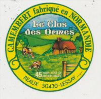 L 260 / ETIQUETTE    FROMAGE    CAMEMBERT    LE CLOS DES ORMES  REAUX  LESSAY   (MANCHE) - Fromage