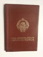 PASSEPORT     PASSPORT  REISEPASS  YUGOSLAVIA VISA TO:  HONG KONG , TURKEY ,  GREECE , SPAIN , PORTUGAL THAILAND, USA, - Historical Documents