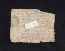 VP1628 - Auvergne - Acte - Commune De FERRIERES - Seals Of Generality