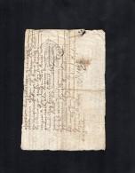 VP1630 - Auvergne - Acte - Commune De FERRIERES - Cachets Généralité
