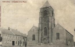 BELGIQUE - HAINAUT - ELLEZELLES - L'Eglise Et La Place. - Ellezelles