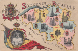 Souvenir De Belgique, Les Neuf Provinces (pk17227) - Andere