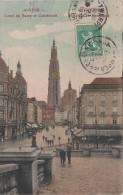 CPA - AK Anvers Antwerpen Canal Au Sucre Et Cathedrale Cafe Neptun? Hotel ? Suikerrui Bei Grote Markt Belgien Belgique - Antwerpen