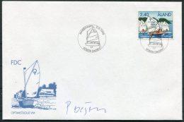 1995 Aland Sailing Boats Signed FDC - Signature - Aland