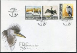2005 Aland Birds Signed FDC - Signature - Aland