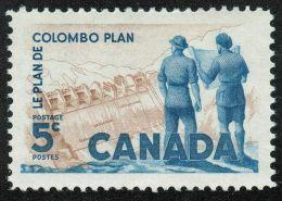 CANADA 1961, # 394, COLOMBO PLAN: POWER PLAN,         M NH STAMPS - 1952-.... Règne D'Elizabeth II