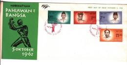 FDC Indonésie - Hormatilah Pahlawan Bangsa - 1962 - Indonesia