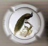 PLACA DE CAVA CAL LLUSIA DE UN PAJARO-BIRD  (CAPSULE) PAVO REAL - Placas De Cava