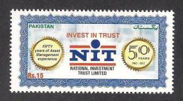 PAKISTAN 2012, 50 Years Of National Investment Trust NIT MNH - Pakistan
