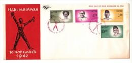 FDC Indonésie - Hari Pahlawan - 1962 - Indonesia