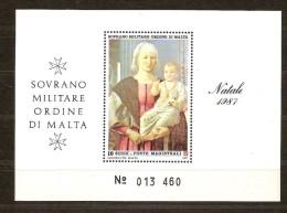 S.M.O.M. 1987 Bloc 23 *** MNH Natale Kerstmis Noël Christmas - Malte (Ordre De)