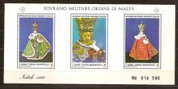 S.M.O.M. 1986 Bloc 21 *** MNH Natale Kerstmis Noël Christmas - Malte (Ordre De)