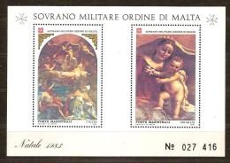 S.M.O.M. 1983 Bloc 17 *** MNH Natale Kerstmis Noël Christmas - Malte (Ordre De)