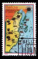 BELIZE - Scott #668 Map (*) / Used Stamp - Belize (1973-...)
