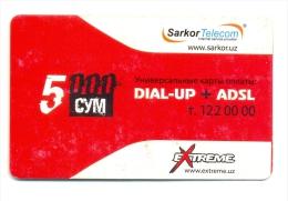 Uzbekistan Sarkor Telecom Extreme Red 5000 Sum - Usbekistan