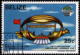 "BELIZE - Scott #673 De Gusmao's ""La Passarole"", 1709 (*) / Used Stamp - Belize (1973-...)"