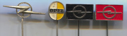 OPEL - Car, Automobile, Vintage Pin Badge, Lot 4 Pieces - Opel
